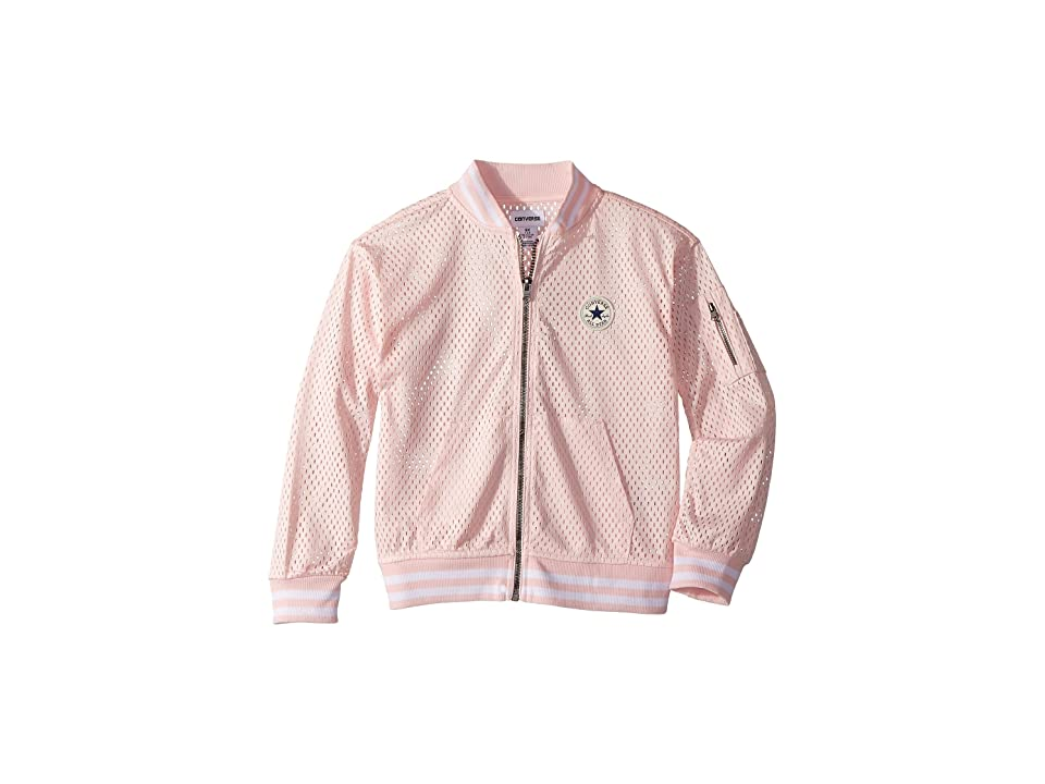 Converse Kids Mesh Bomber (Little Kids) (Iced Pink) Girl