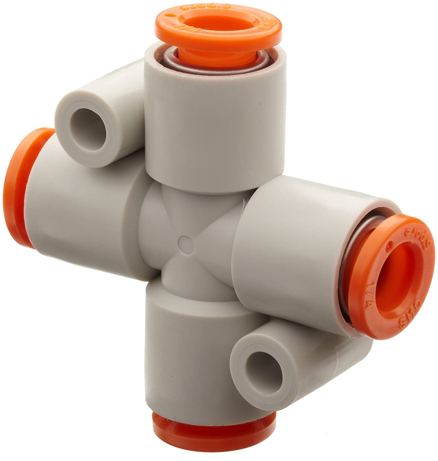 Max Max 84% OFF 64% OFF SMC KQ2TW07-00A PBT Push-to-Connect Tube Cross 1 Fitting Tu 4