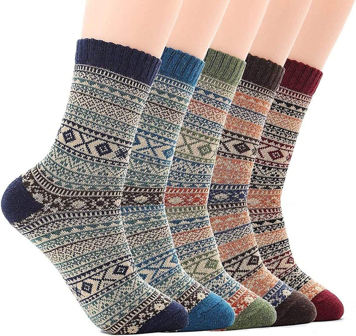 RENFEIYUAN safety 5 Pairs Mens Thermal Socks Vintage Popular brand in the world Casual Thick