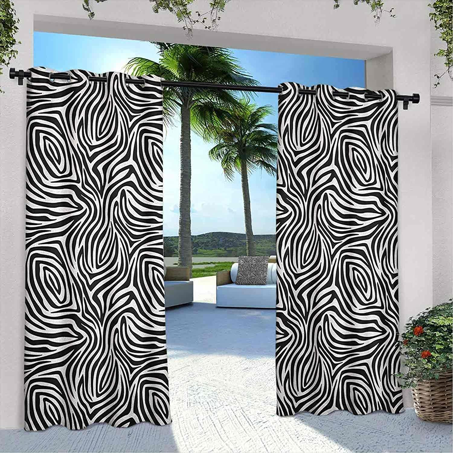 25% OFF Outdoor Privacy Stripes Curtain Zebra with Pattern Abstrac Skin Sales of SALE items from new works