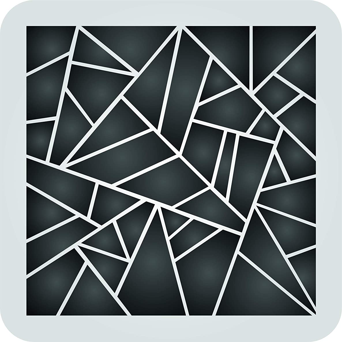 Geometric Stencil - 6.5 x 6.5 inch (S) - Reusable Pattern Wall Art Décor Stencils for Painting - Use on Paper Projects Walls Floors Fabric Furniture Glass Wood etc.
