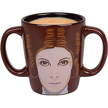 Star Wars Princess Leia Double Handled Ceramic Coffee Mug - 11 oz