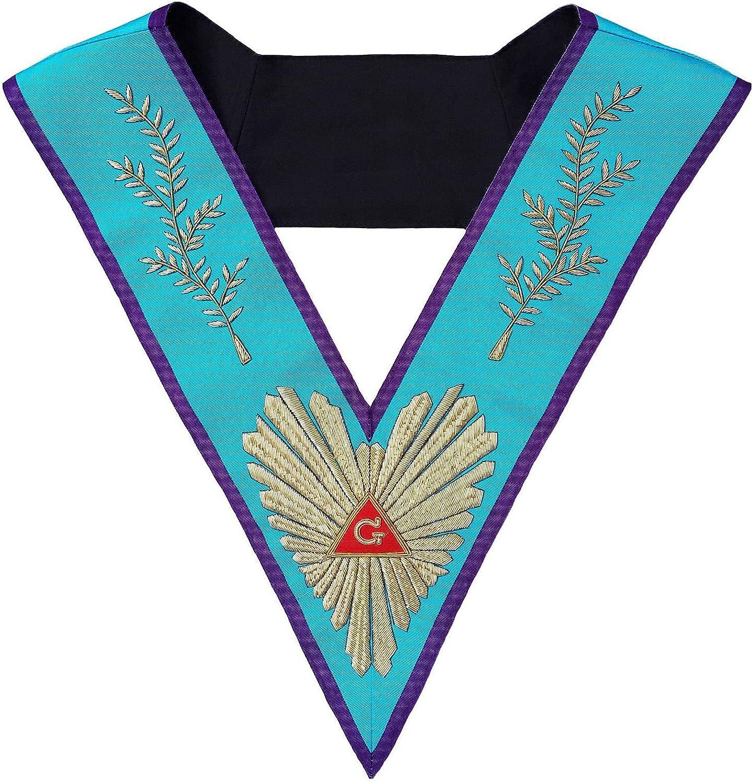 Masonic Memphis Misraim Worshipful Master Collar Hand Embroidered