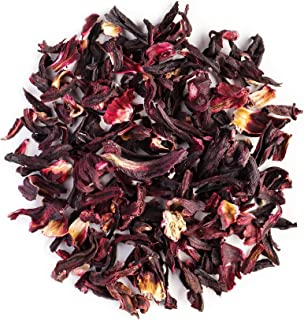 Hibisco orgánico infusión flores - Tarta de limón y frutas del bosque - Clásico sabor agridulce - Hibiscus - comúnmente hibiscos 100g