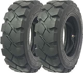 Set of 2 New Zeemax HD 28x9-15 8.15-15 /14TT Forklift Tires w/Tube & Flap & Rim Guard