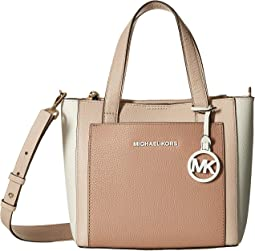 e6b9afe595e9e MICHAEL Michael Kors. Gemma Small Pocket Messenger.  258.00. New. Soft  Pink Fawn