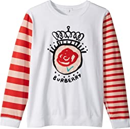 Burberry Kids - Rose Stripe Long Sleeve Tee (Little Kids/Big Kids)