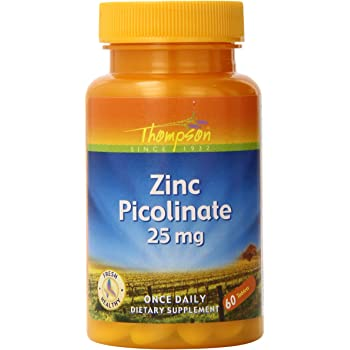 Thompson Zinc Picolinate Tablets, 25 Mg, 60 Count (Pack of 3)