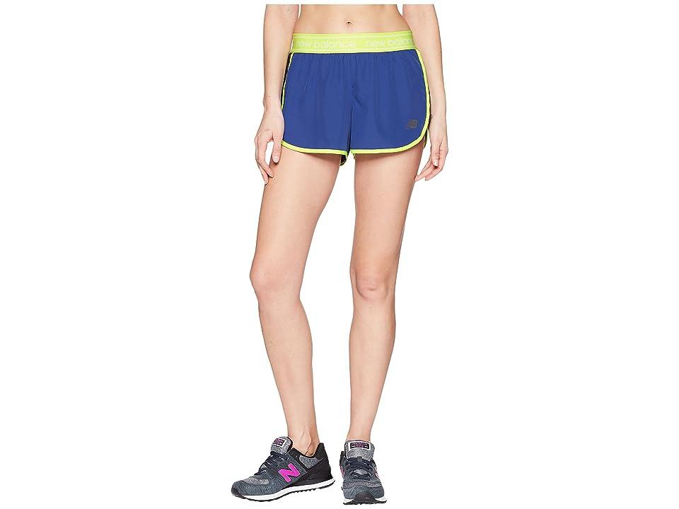 New Balance Accelerate 2.5 Shorts (Blue Iris/Solar Yellow) Women