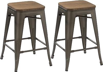 Amazon Com Devoko Metal Bar Stool 24 Indoor Outdoor