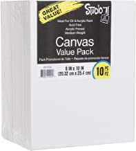 Darice 18-Inch-by-24-Inch Stretched Canvas, 2-Pack, White, Pack of 10