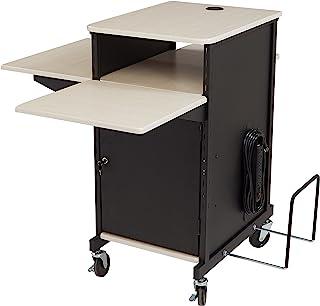 Oklahoma Sound PRC-450 Jumbo Plus Presentation Cart, 33-Inch Length x 21-Inch Width x 40-Inch Height, Ivory Woodgrain