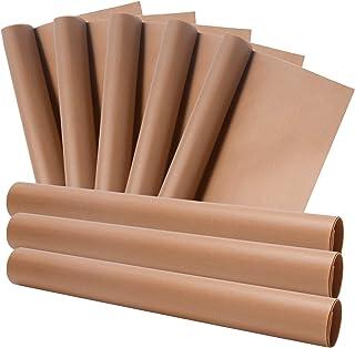 ZITFRI Lot de 8 feuilles de cuisson réutilisables - 40 x 30 cm - En silicone résistant à la chaleur - Découpable - Pour fo...