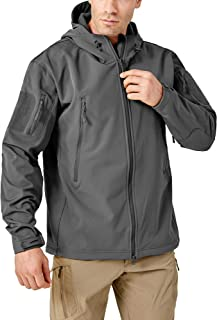 Men's Winter Coats Hooded Jacket Fleece Softshell Tactical Jacket