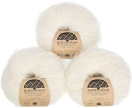 Cloudy Extra Soft Suri Alpaca Merino Wool Yarn Weight Category #4 Worsted, Aran, Afghan, Medium -Set of 3 Skeins 150 Grams Total- Luxuriously and Caring Soft