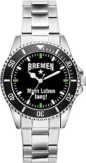 KIESENBERG Bremen Geschenk Artikel Idee Fan Uhr 2281