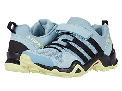 adidas Outdoor Kids Terrex AX2R CF (Little Kid/Big Kid) (Ash Grey/Core Black/Yellow Tint) Girls Shoes
