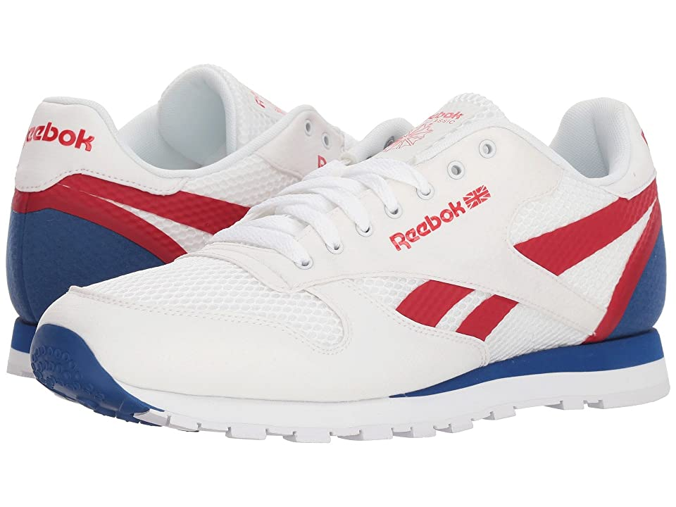 Reebok Lifestyle Classic Leather MVS (White/Excellent Red/Team Dark Royal) Men