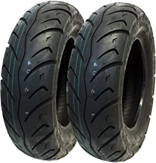 MMG Tire Set Front 120/90-10 Rear 130/90-10 Scooter Tire Tread Pattern Designed for Street Performance (P116)
