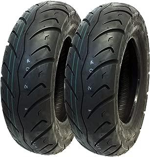 MMG Tire Set Front 120/90-10, Rear 130/90-10 Street Tread for Honda Kymco Eton Hyosung 10 inches Rim (P116)
