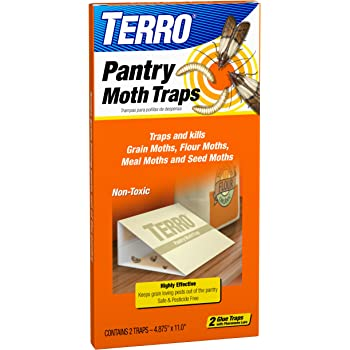 TERRO T2900 2-Pack Pantry Moth Traps - Traps grain moths, flour moths, meal moths, and seed moths