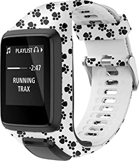 PATROHOO Bands for Tomtom Runner 2/3 Strap, Compatible with Spark 3/Golfer2/Adventurer, Rubber Replacement Band for Screen Protector-GPS Smart Watch Accessories.