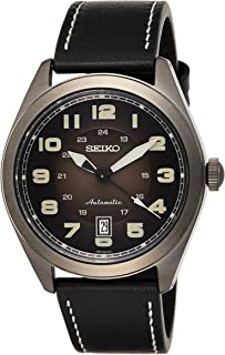 Seiko Mens Automatic Watch, Analog Display and Leather Strap SRPC89K1