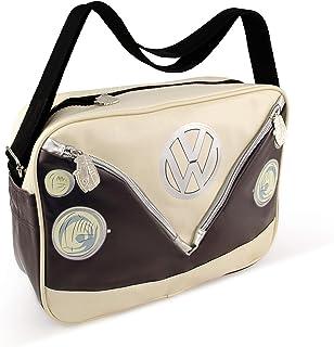 BRISA VW Collection VW T1 Bus Shoulder Bag Landscape - Brown