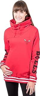 Ultra Game NBA Women's Fleece Pullover Sweatshirt Funnel Neck