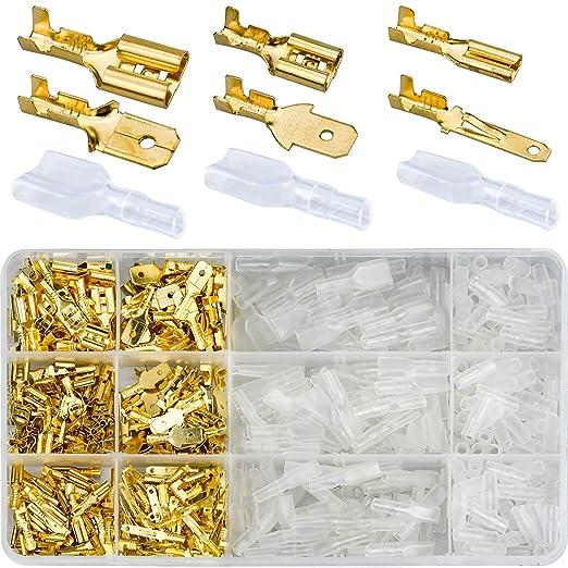 14 opinioni per Winfred 480 Pezzi 2.8mm 4.8mm 6.3mm Terminali a Crimpare Kit per Connettore