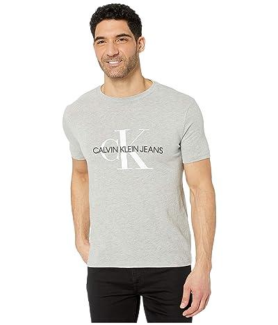 Calvin Klein Monogram Crew Neck T-Shirt (Light Grey Heather) Men