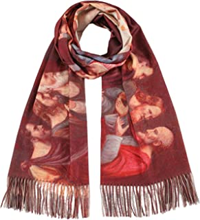 BlueSkyDeer The Last Supper by Leonardo Da Vinci Soft Cashmere Feel Scarf Large Warm Blanket Winter Shawl Wrap Women Men