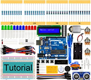 Freenove Ultrasonic Starter Kit with UNO R3 (Arduino-Compatible), 139 Pages Detailed