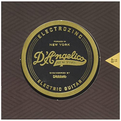 DAngelico Electrozinc Rock 11-49 Medium Electric Guitar Strings