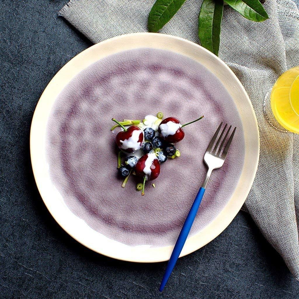 TANGIST Boston Mall Bowl Creative Ice Crack Now on sale Ceramic Purple - Tableware