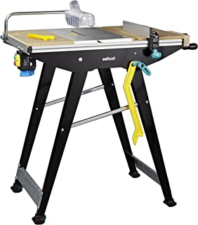 Wolfcraft 狼工 6906506MASTER cut 1500–精准锯子桌和工作站,黑色