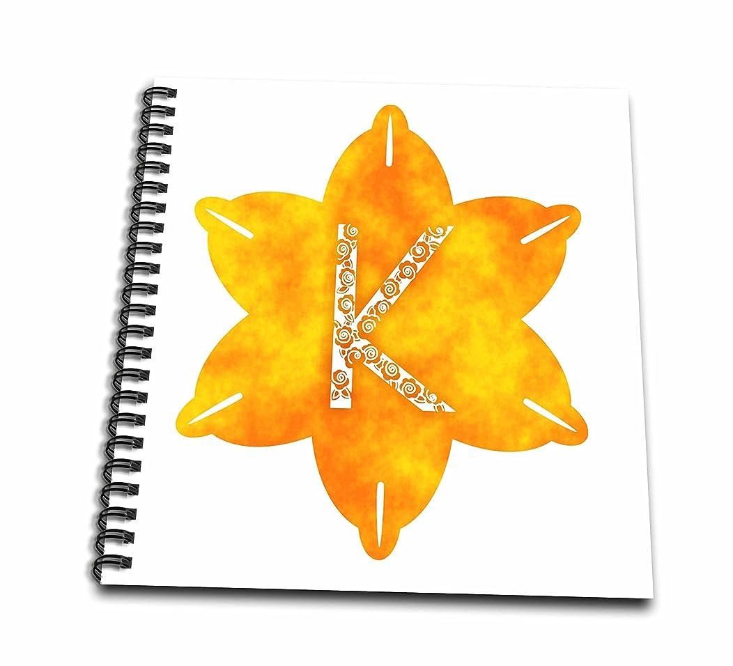 3D Rose Letter K Drawing Book