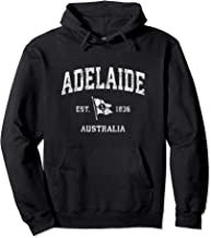 Adelaide  Australia Vintage Nautical Boat Anchor Flag Sports Pullover Hoodie