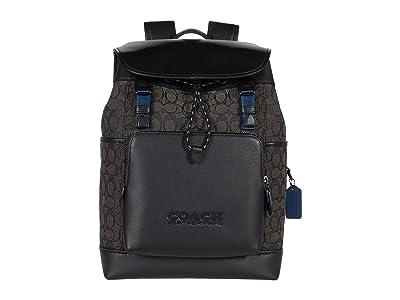 COACH League Flap Backpack in Signature Jacquard