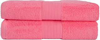 Babiclean 28 x 56 Ultra Soft and Highly Absorbent Light Weight and Fast Dry Pure Cotton Pink Bath Towel Durable for Bathro...