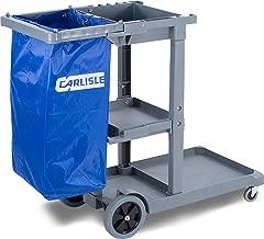 Impact 6855 Gator Compact Cart with 25-Gallon Blue Vinyl Bag Gray 38-3//4 Length x 20-3//4 Width x 32-1//2 Height