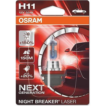 Osram Night Breaker Laser H11 Next Generation 150 Mehr Helligkeit Halogen Scheinwerferlampe 64211nl 01b 12v Pkw Einzelblister 1 Lampe Auto