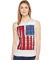 Lucky Brand - Tie-Dye Flag Tank Top