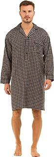 Haigman Men's Luxury Brushed Cotton Nightshirt Nightwear 7394
