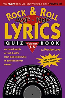 Rock & Roll LYRICS Quiz Book 1950's-1960's: Volumes 1-6 (English Edition)