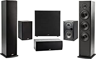 Polk 5.1 Channel 4K 3D A/V Surround Sound Multimedia Home Theater Speaker System