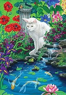 Toland Home Garden Koi Pond 12.5 x 18 Inch Decorative Spring Summer Kitty Cat Japanese Fish Garden Flag