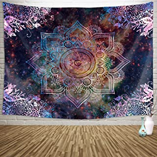 Sylfairy Mandala Tapestry Wall Hanging Bedding Tapestry Hippie Mandala Tapestry Beach Throw Tapestry Table Cover Curtain Home Decoration Wall Art Bedroom Dorm Decor(59