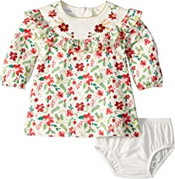 Merry Floral Ruffle Dress (Infant)