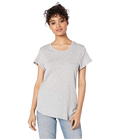 Splendid Abbie Short Sleeve Modal Jersey Crew Tee (Heather Grey) Women
